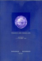 Bankhaus H. Aufhauser - Catalogo Asta -  Munzen Un Medaillen - N.9 Auktion - 7 - 9 Oktober 1992 - Livres & Logiciels