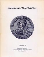 Numismatic Fine Arts Inc. - Catalogo Asta -  Anction XI - December 8 - 1982 - Livres & Logiciels