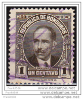 Honduras 1931, Paz Baraona, 1c, Used - Honduras