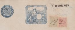 1891-UF-3 CUBA SPAIN ESPAÑA (LG-667) 1891 5c + 10c. POSTAGE REVENUE USE. PAGO DE SOBREPORTE FISCAL. - Cuba