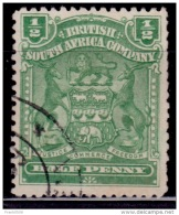 Rhodesia 1898-1908, Coat Of Arms, 1/2p, Scott# 59, Used - Great Britain (former Colonies & Protectorates)