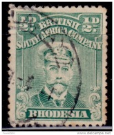 Rhodesia 1913-23, King George V, 1/2p, Scott# 119, Used - Great Britain (former Colonies & Protectorates)