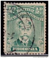 Rhodesia 1913-23, King George V, 1/2p, Scott# 119, Used - Grande-Bretagne (ex-colonies & Protectorats)