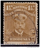 Rhodesia 1913-23, King George V, 1 1/2p, Scott# 121, Used - Great Britain (former Colonies & Protectorates)