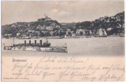 Hamburg BLANKENESE 4 Schornstein Dampfer I Höhe Süllberg Segelschiff 1.6.1903 Gelaufen - Blankenese