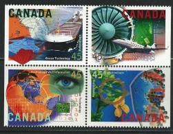 CANADA 1996 SCOTT 1598i MNH SE-TENANT BLOCK CATALOGUE VALUE US $3.60 - 1952-.... Elizabeth II