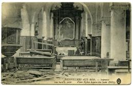 62 : BIENVILLERS-AUX-BOIS - INTERIEUR D'UNE EGLISE BOMBARDEE (AOUT 1915) (LL) - Arques