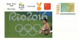 Spain 2016 - Olympic Games Rio 2016 - Gold Medal Jump 10m. Male China Cover - Juegos Olímpicos