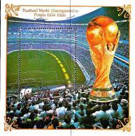 1985 Mi# Block 199 U Used - Perf. - World Cup Soccer 1970-1986 / Aztec Stadium, Mexico City (LOT 16-1002) - France