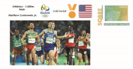 Spain 2016 - Olympic Games Rio 2016 - Gold Medal Athletics 1500m. Male USA Cover - Juegos Olímpicos