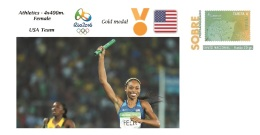Spain 2016 - Olympic Games Rio 2016 - Gold Medal - 4x400m. Female USA Cover - Otros