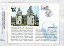""""""" VIOLLET-LE-DUC / NOTRE DAME DE PARIS """" Sur Feuillet CEF 1er Jour N°té De 1980 . N° YT 2039 - Documents Of Postal Services"""