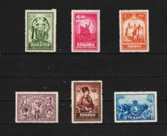 1929 - 10 Anniv. Du Rattachement De La Transylvanie Mi No 346/351 Et Yv No 365/370 MH - 1918-1948 Ferdinand, Carol II. & Mihai I.