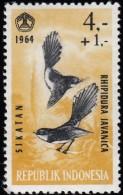 INDONESIA - Scott #B160 Malaysian Fantails (*) / Mint H Stamp - Indonésie