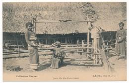 CPA - LAOS - Jeune Fille Kha Kouène Tissant - Collection Raquez - Très Bon état - Laos