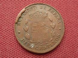 ESPAGNE Monnaie De 10 Centimos 1879 Avec Défaut De Frappe RARE - Espagne