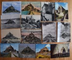 50 : Mont Saint-Michel - 45 CPM Ou CPSM GF - Vue Aérienne - Cloitre - Maison De Du Guesclin - Digue ... - Le Mont Saint Michel