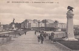 G , Cp , 62 , BOULOGNE-sur-MER , Le Monument Ferber Et Le Casino - Boulogne Sur Mer