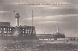 G , Cp , 62 , BOULOGNE-sur-MER , Les Deux Jetées à Marée Basse - Boulogne Sur Mer