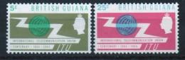 British Guiana Set Of Stamps Issued To Celebrate International Telecommunications Year. - British Guiana (...-1966)
