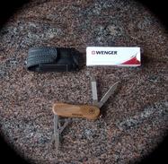 WENGER EvoWood 81-Couteau De Poche-Taschenmesser-coltello Da Tasca-Neuf Avec Etui/Neu Mit Etui/Nuovo Con Fodero - Armi Bianche