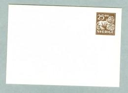 Sweden. Stationery  Envelope  Unused. 1964. 25 Ore Lion. - Postal Stationery