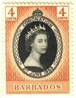 1953 QUEEN ELIZABETH CORONATION   BARBADOS - Barbados (1966-...)