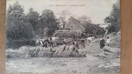 Pont-aven.le Battage Du Blé.édition Laurent 876.rare - Pont Aven