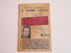 S.N.C.F. Carte à DEMI-TARIF Sur Paris-Lyon à Ferrières-Fontenay Via Moret-Les Sablons - Abonnements Hebdomadaires & Mensuels