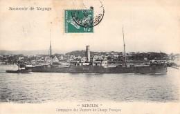 """C P A Bateau Identifié """" Sirius """" Compagnie Des Vapeurs De Charge Français C.V.C.F Construit En 1900 Port Glasgow - Paquebots"""
