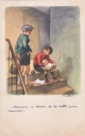 Illustrateur Poulbot Maman A Besoin De La Table Pour Repassser  écrite  Bon état - Poulbot, F.