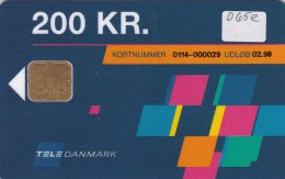 Denmark, DD 065e, 200 Kr, Tele Danmark Logo, Only 2000 Issued, 2 Scans. - Danemark