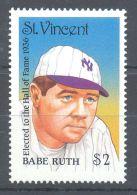 St.Vincent - 1988 Baseball Player MNH__(TH-9524) - St.Vincent (1979-...)