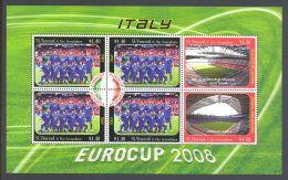St.Vincent - 2008 Football Championship Italy Kleinbogen MNH__(THB-4824) - St.Vincent (1979-...)
