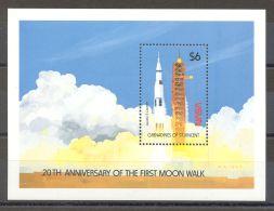 St.Vincent Grenadines - 1989 Moon Landing Block (1) MNH__(TH-16590) - St.Vincent Und Die Grenadinen