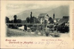 Cp Obertsrot Gernsbach Im Murgtal Bade Württemberg, Hotel Und Pension Zur Blume, Brücke - Sonstige