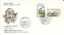N°  46 /47  -    EUROPA  TURQUIE    -  1978  -  FDC  LEKFOSA - Covers & Documents