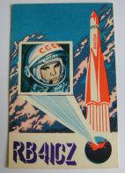 Kt 734 / QSL Radio Card, Mariupol, Ukraine, Jurij Gagarin, Yuri Gagarin, Vostok - Radio Amateur