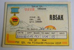Kt 734 / QSL Radio Card, Ukraine Lebedin - Radio Amateur