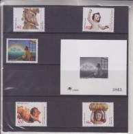 = Açores 5 Timbres Neufs Et 1 Gravure Dans Pochette, Encart 2 Pages Et Rabat - Colonies & Territories – Unclassified