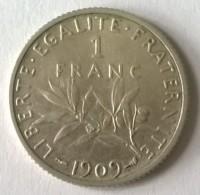 1 Franc SEMEUSE - 1909 - Superbe - - H. 1 Franc