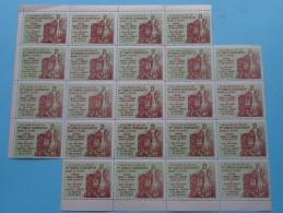FLORALIES Valenciennennoisses 1954 ( Sluitzegels Timbres-Vignettes Picture Stamps Verschlussmarken ) !! - Advertising
