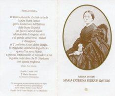 Santino Depliant SERVA DI DIO MARIA CATERINA FERRARI ROTILIO Con RELIQUIA (Ex-indumentis) - PERFETTO M93 - Religion & Esotérisme