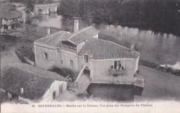 24 BOURDEILLES Coin Du Village  Vue Plongeante Depuis Le Chateau Le MOULIN Sur La Drônne - Francia