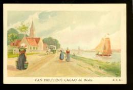 Chromo ( 4613 )  Chocolat  Cacao Van Houten  Weesp ( Hollande  Holland Nederland ) - Van Houten