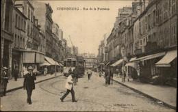 50 - CHERBOURG - RUE DE LA FONTAINE - TRAMWAY - Cherbourg