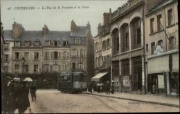 50 - CHERBOURG - RUE DE LA FONTAINE - TRAMWAY - POSTE - Cherbourg