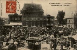 50 - CHERBOURG - MARCHE - MARCHAND DE GLACE - Cherbourg