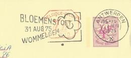 Publibel Obl. N° 2634 + P.010 ( Agence LA FOURMI, Westende-Bad) Obl: Antwerpen  1975 + Flamme Fête Des Fleurs - Stamped Stationery