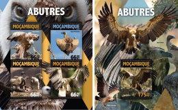 MOZAMBIQUE 2016 ** Vultures Geier Vautour M/S+S/S - OFFICIAL ISSUE - A1632 - Arends & Roofvogels